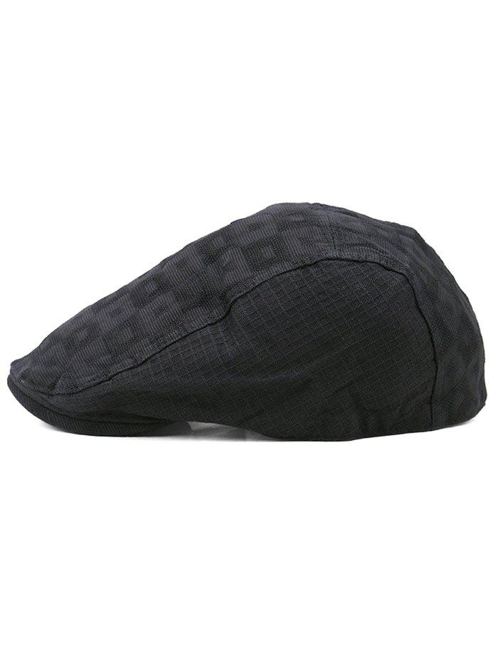 Hot Simple Checked Pattern Decorative Newsboy Cap