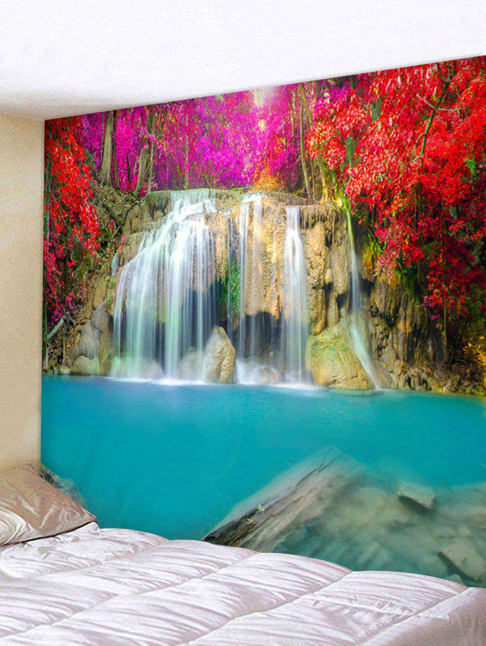 Store Red Trees Waterfall Print Wall Hanging Tapestry