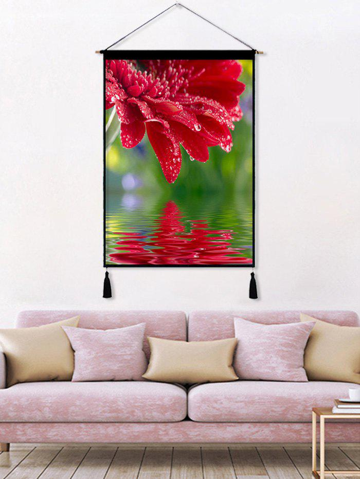 Fancy Floral Printed Tassel Wall Hanging Painting
