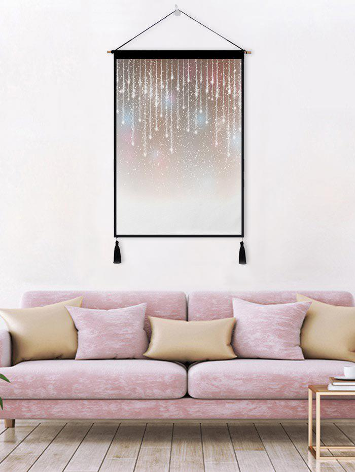 Hot Lamplight Printed Tassel Wall Hanging Painting