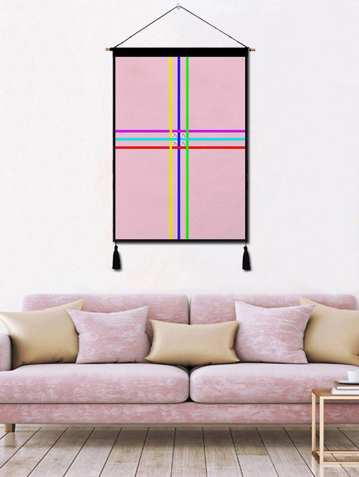 Shops Color Block Geometric Printed Tassel Wall Hanging Painting