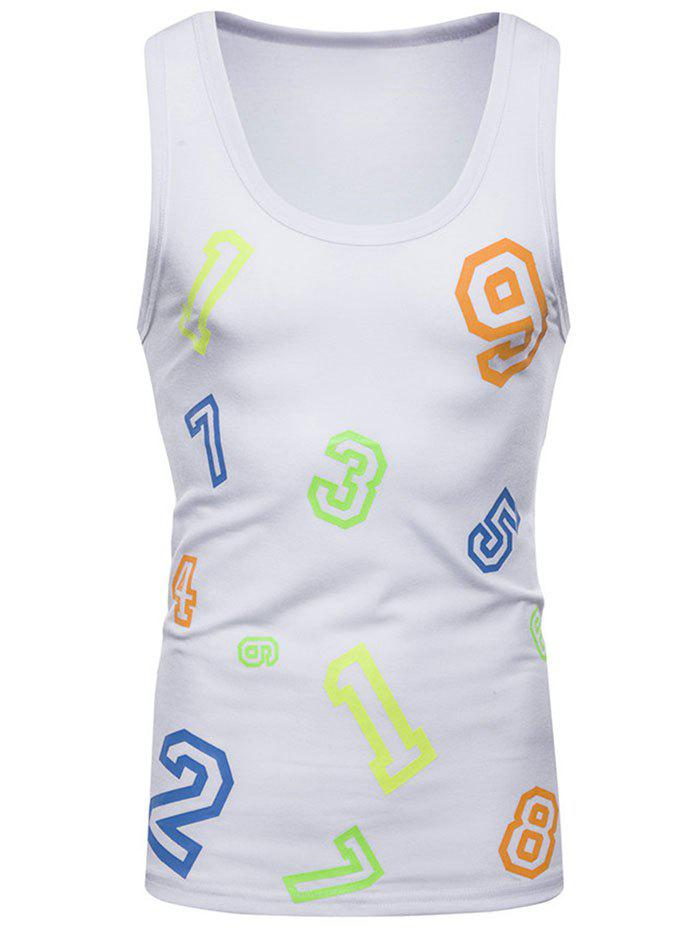 Outfits Colorful Numbers Print Tank Top