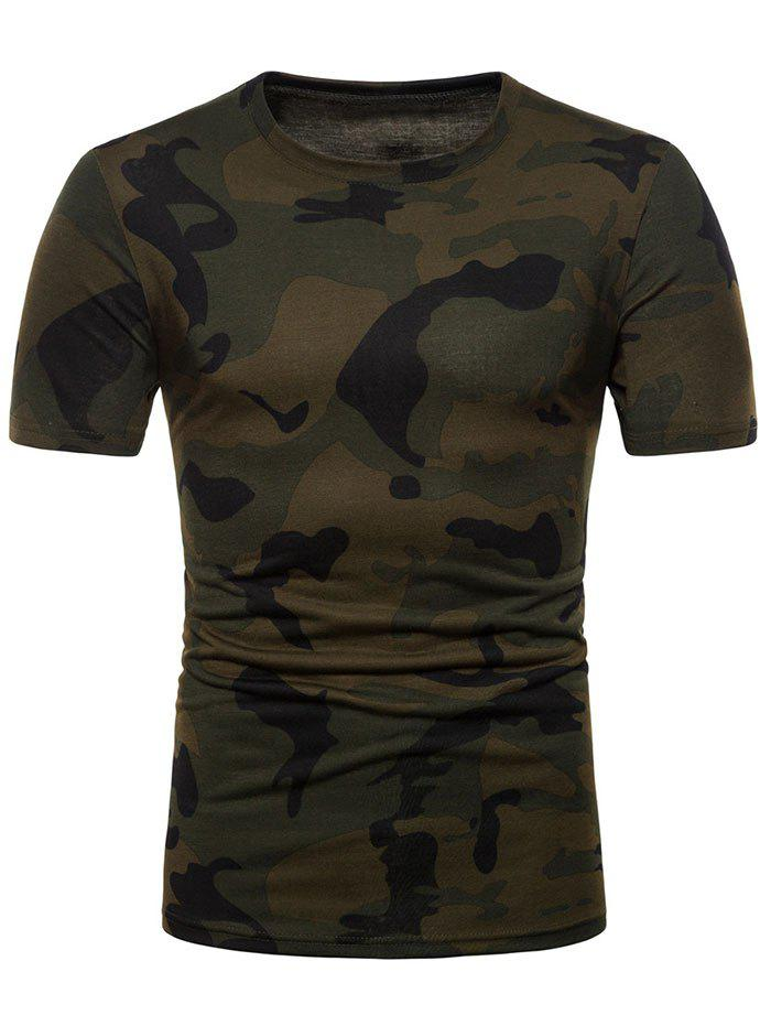 fd10d5a2 77% OFF] Camo Print Crew Neck Tee Shirt | Rosegal