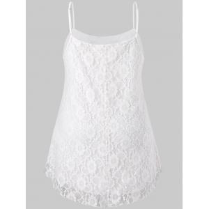 Plus Size Lace High Low Slip Tank Top -