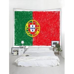 Portuguese Flag Print Wall Hanging Tapestry -