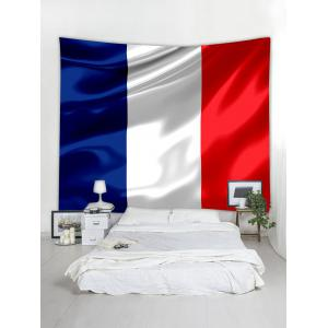 French Tricolour Pattern Wall Art Tapestry -