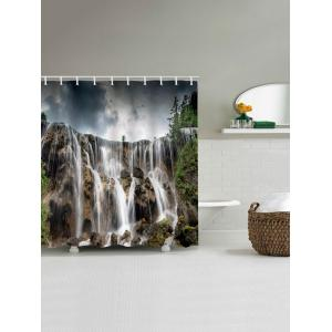 Waterfall Printed Bath Shower Curtain -