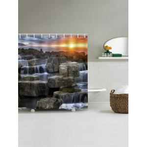 Rideau de douche en pierre Waterfall Stone Sunset -