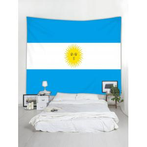 Flag of Argentina Pattern Wall Decor Tapestry -