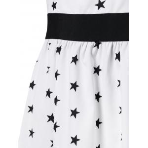Stars Print Shoulder Cut Sharkbite Dress -