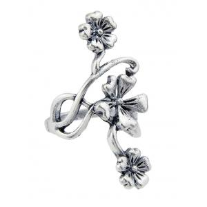 Set of 4Pcs Carving Floral Decorative Ring Collcetion -