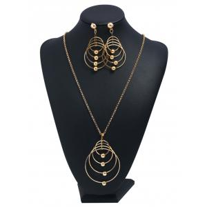 Multilayers Rings Party Wedding Pendant Necklace -