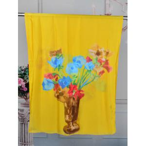 Vase of Floral Decorative Long Shawl Scarf -