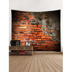 Retro Brick Wall Print Wall Decor Hanging Tapestry -