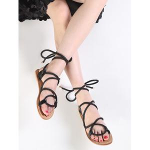 Lace Up Ankle Wraped Sandals -