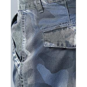 Pockets Camo Pattern Cargo Shorts -