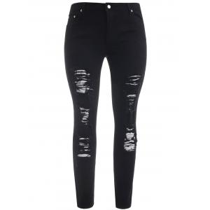 Плюс Размер Ripped Distressed Jeans -
