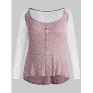 Plus Size Lace U Neck Top -