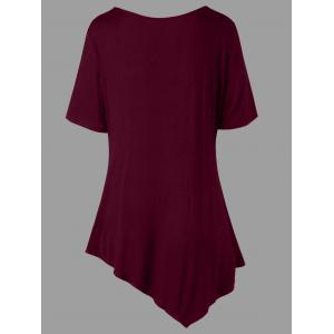 Plus Size Two Tone Tunic T-shirt -