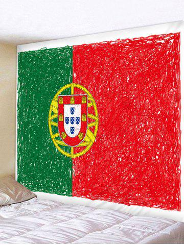 Outfits Portuguese Flag Print Wall Hanging Tapestry