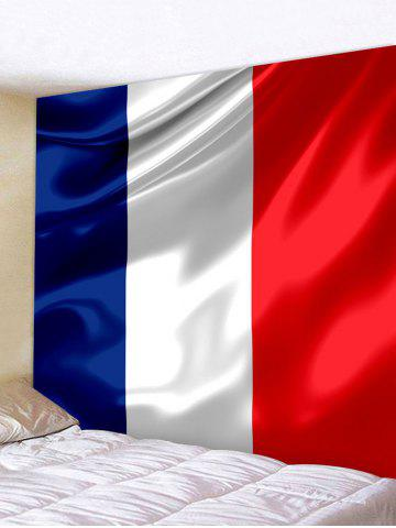 Fancy French Tricolour Pattern Wall Art Tapestry