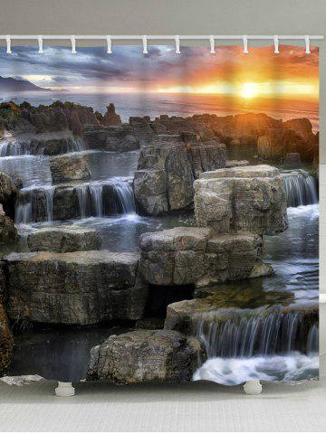 Rideau de douche en pierre Waterfall Stone Sunset