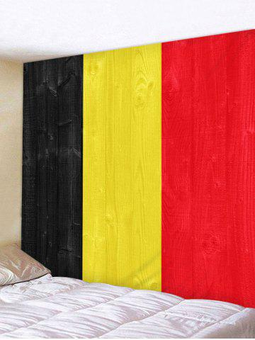 Unique Flag of Belgium Print Wall Tapestry