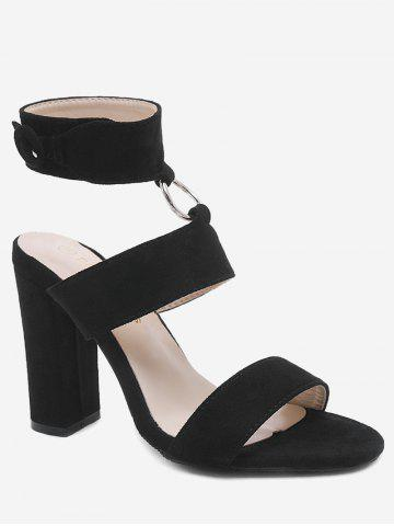 Shops Ankle Strap Chunky Heel Chic Sandals