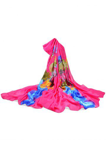 Outfit Vase of Floral Decorative Long Shawl Scarf