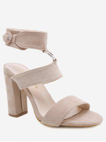 Online Ankle Strap Chunky Heel Chic Sandals