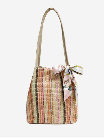 Cheap Casual Vacation Straw Scarf Shoulder Bag