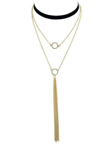 Chic Layered Chain Pendant Necklace