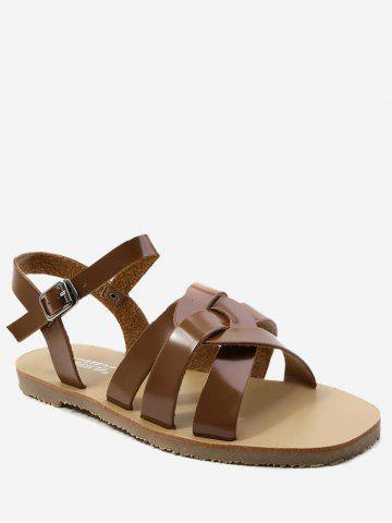 Chic Ankle Strap Casual Flat Heel Sandals
