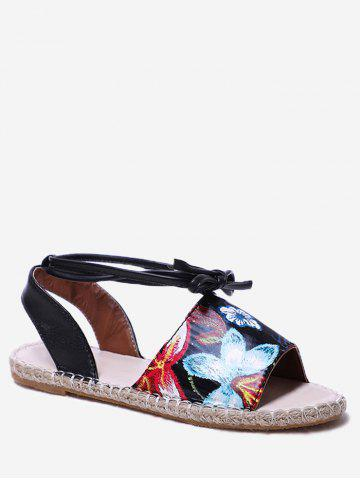 Affordable Vintage Floral Flat Sandals