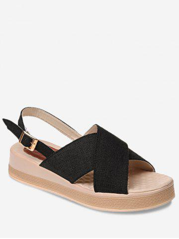 Sale Cross Buckle Strap Platform Sandals