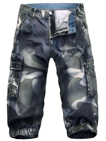 Shops Pockets Camo Pattern Cargo Shorts