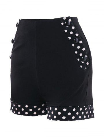 Sale Polka Dot High Waisted Shorts