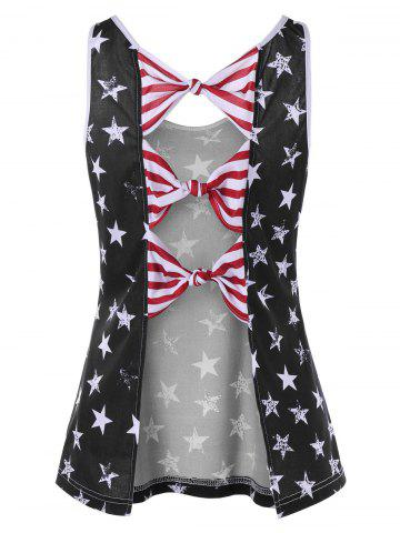 American Flag Bowknot Back Tank Top