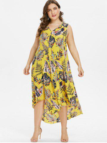 a99fc6715e1f Plus Size Hawaiian Dress - Maxi, Print, White And Wrap Cheap With ...
