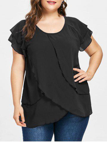 Outfits Plus Size Tulip Overlay Blouse