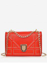Chain Studded Chic Shopping Crossbody Bag -
