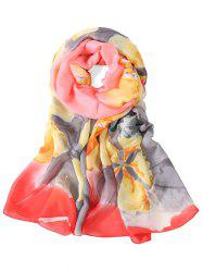 Romantic Floral Printed Long Scarf -