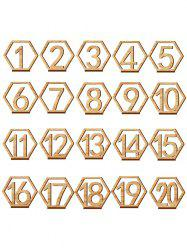 Number Sign Wooden Wedding Decor Set -