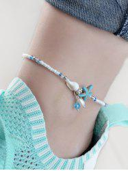 Beads Starfish Shell Artificial Pearl Decoration Anklets -