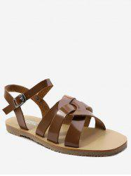 Ankle Strap Casual Flat Heel Sandals -