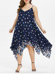 Plus Size Tiny Floral Handkerchief Dress -