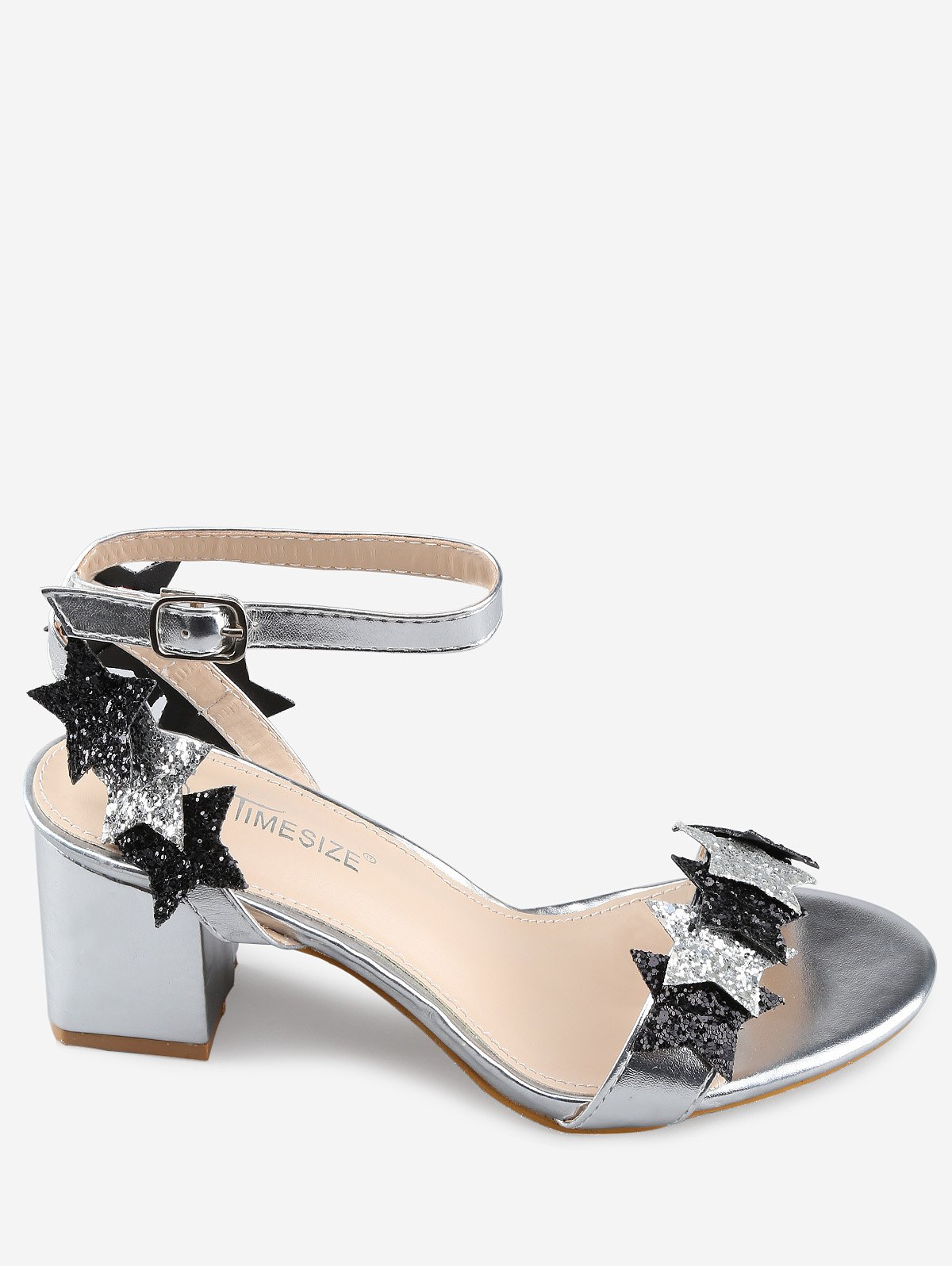 Cheap Stars Detail Ankle Buckle Pumps