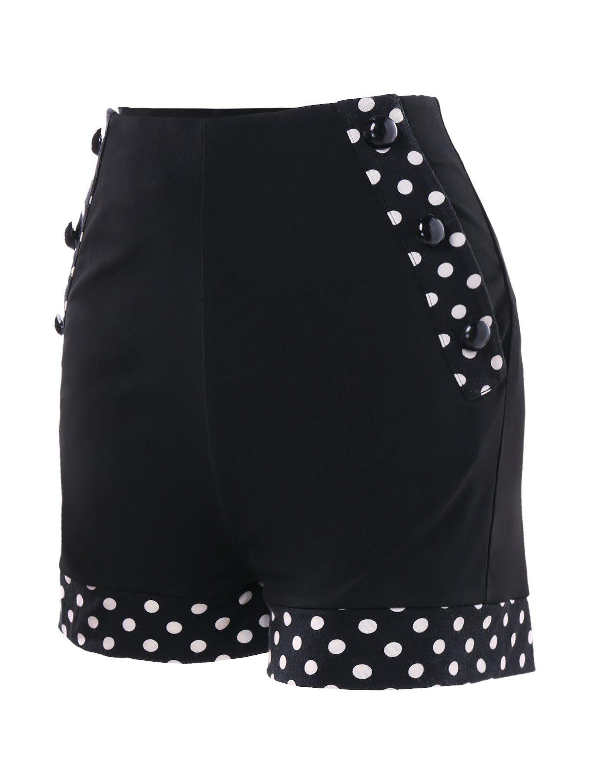 Discount Polka Dot High Waisted Shorts