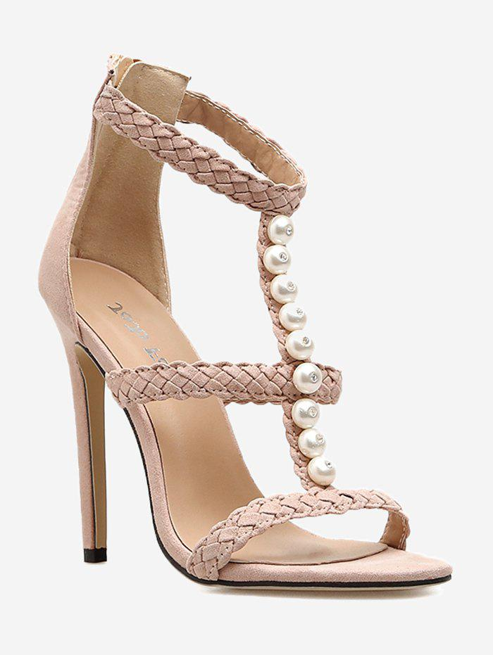 Best Pearl Decorate Stiletto Heel Sandals