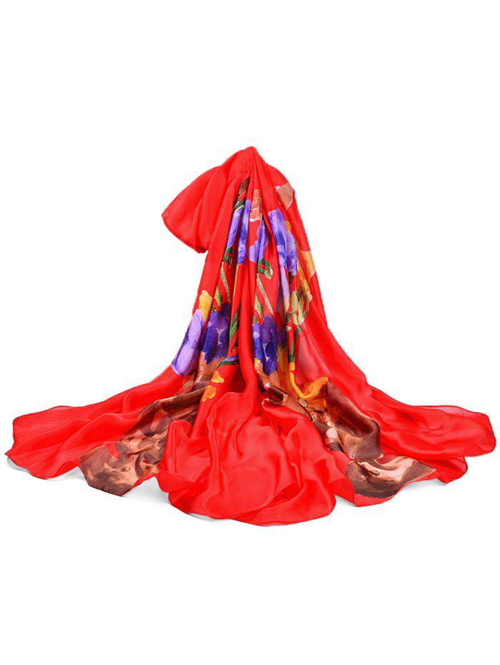 Hot Vase of Floral Decorative Long Shawl Scarf